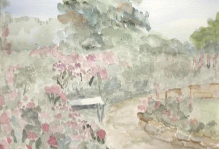 Bench and Flower Garden